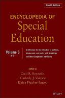 Encyclopedia of Special Education, Volume 3
