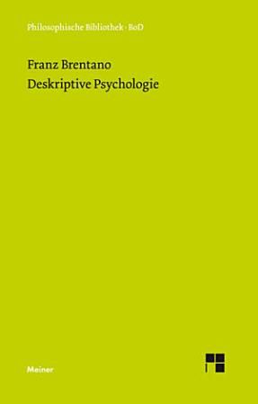 Deskriptive Psychologie PDF