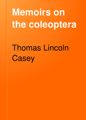 Memoirs on the Coleoptera: Volume 4