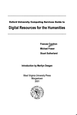 Oxford University Computing Services Guide to Digital Resources for the Humanities PDF