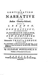 A continuation of the narrative of the Indian charity school: Volume 9