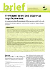 From perceptions and discourses to policy content: A mixed method analysis of peatland fire management in Indonesia