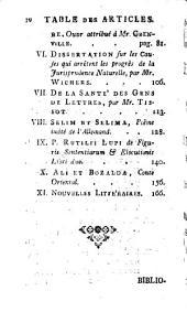Bibliothèque des sciences et des beaux arts ...: Volume30