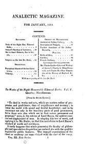The Analectic Magazine: Volume 3