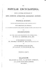 The Popular Encyclopedia;: pt. 1: On the rise and progress of literature [part 1], Canaille-Congress