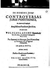 Controversas iuris positiones