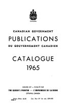 Canadian Government Publications Catalogue PDF