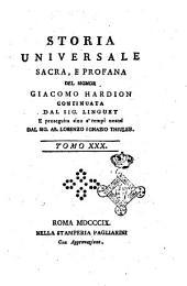 Storia Universale Sacra, e Profana Secolo XVIII