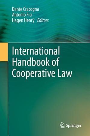 International Handbook of Cooperative Law PDF
