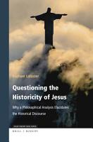 Questioning the Historicity of Jesus PDF