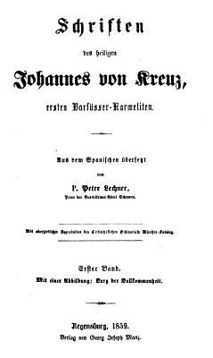 Leben u  Werke des heiligen Johannes  ersten Barf    er Karmeliten PDF
