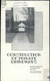 Construction of private driveways