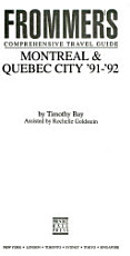 Montreal and Quebec City  91  92 PDF