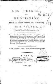 Les ruines ou méditations sur les révolutions des empires par M. Volney