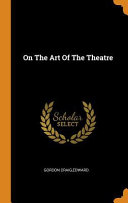 On the Art of the Theatre Book