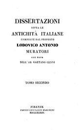 Dissertazioni sopra le antichità italiane: Volume 2