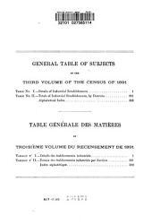Census of Canada, 1890-91: Recensement Du Canada, Volume 3