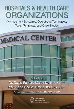 Hospitals   Health Care Organizations PDF