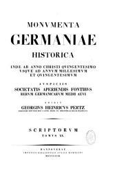 Monumenta Germaniae historica inde ab anno Christi quingentesimo usque ad annum millesimum et quingentesimum...