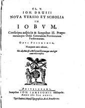 Nova versio et scholia in Jobium