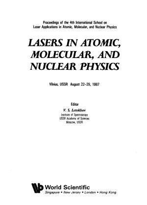 Lasers in Atomic  Molecular  and Nuclear Physics PDF
