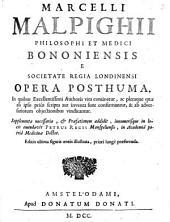 Opera posthuma. IN quibus authoris vita continetur ... Supplementa necessaria & praefationem addidit ... emendavit Petrus Regis: Volume 1