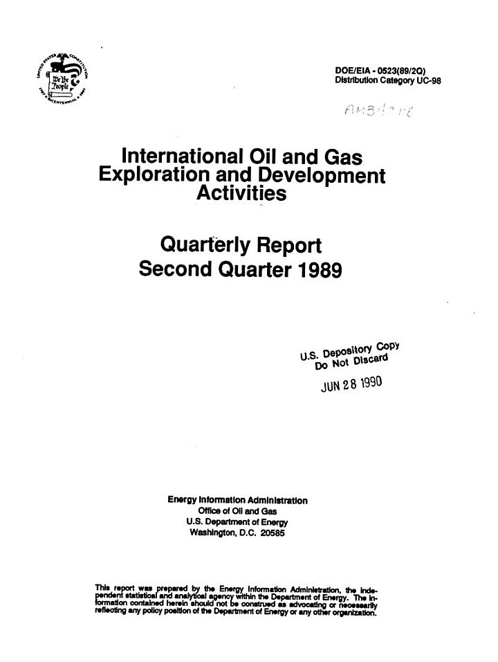 International Oil and Gas Exploration and Development Activities