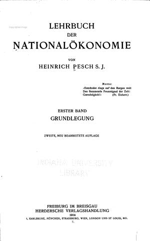 Lehrbuch der Nationalokojokie  Wesen und Ursachen des Volkswohlstandes PDF