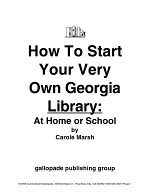 How to Start a Georgia Library at Home Or School!