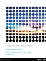 Statistics for Psychology  Pearson New International Edition PDF