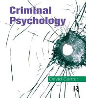 Criminal Psychology  Topics in Applied Psychology PDF