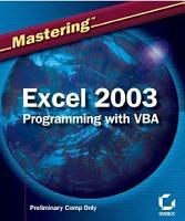 Mastering Excel 2003 Programming with VBA PDF