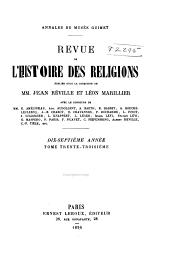 Revue de l'histoire des religions: Volume17;Volumes33à34