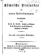 Lucius Annaus Seneca des philosophen Werke: Bände 5-9