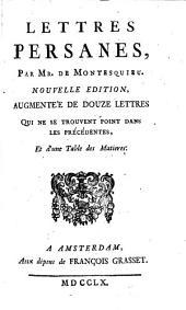 Lettres persanes: Volume1