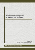 Sustainable Development of Industry and Economy PDF
