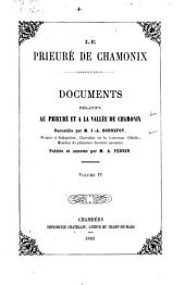 Documents: Bonnefoy, J.A. Le Prieuré de Chamonix. v.1-2. 1879-1883: Volume 4