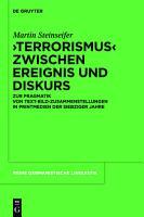 Terrorismus  zwischen Ereignis und Diskurs PDF