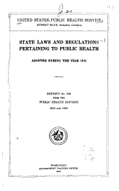 State Laws and Regulations Pertaining to Public Health Adopted ...