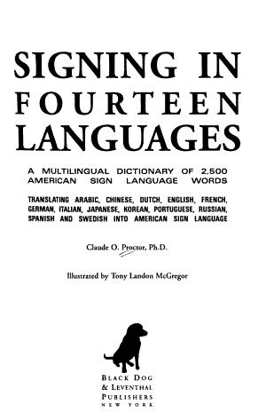 Signing in Fourteen Languages PDF