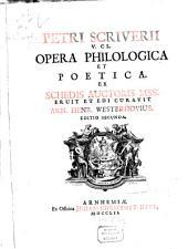 Opera anecdota philologica et poetica
