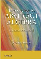 Introduction to Abstract Algebra PDF