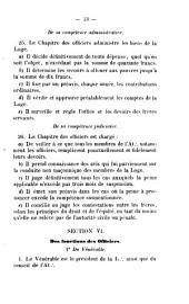 Règlements et statuts de la Loge maçonnique de St-Jean l'Indépendante à l'Orient de Vevey en Suisse