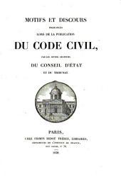 Recueil complet des descours prononcés lors de la présentation du code civil: Volume1