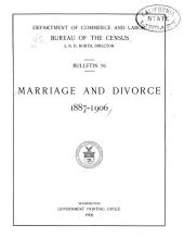 Marriage and divorce: 1887-1906