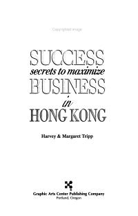 Success Secrets to Maximize Business in Hong Kong