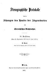 Stenographische Protokolle: Band 2;Band 6,Ausgabe 2