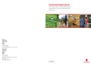 Connected Agriculture  The role of mobile in driving efficiency and sustainability in the food and agriculture value chain PDF
