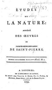 Études de la nature, etc