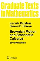 Brownian Motion and Stochastic Calculus PDF